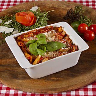 11. Zapekané cestoviny s kuracím mäsom ala Italia