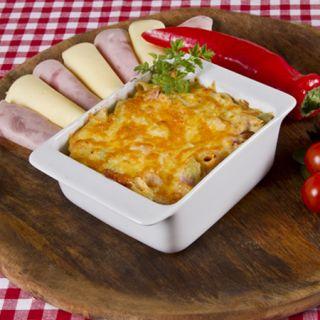 12. Zapekané cestoviny so šunkou a syrom
